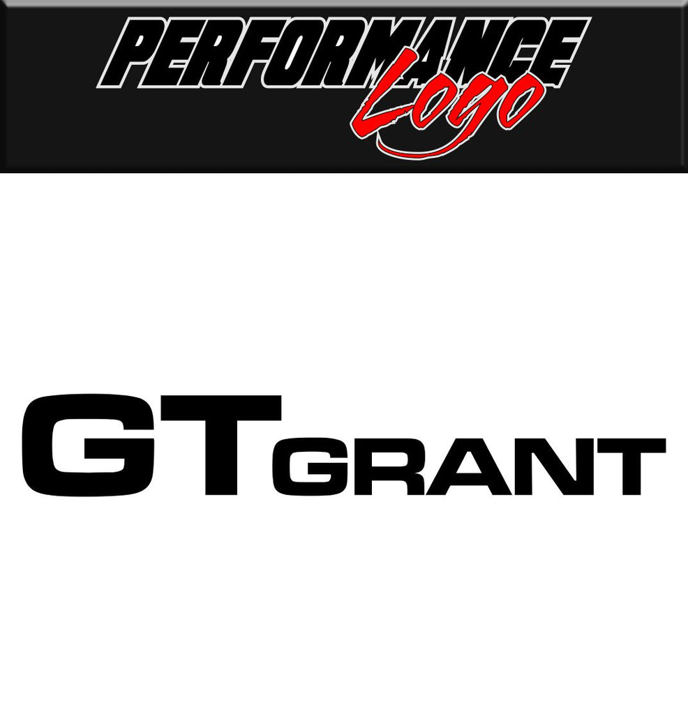 Grant Steering Wheels decal performance decal sticker