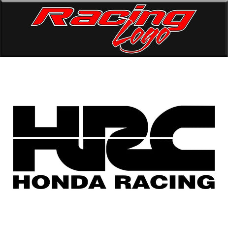 Honda Racing decal, racing decal sticker