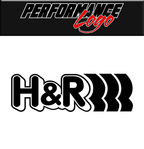 H & R Springs decal, performance decal, car decal sticker