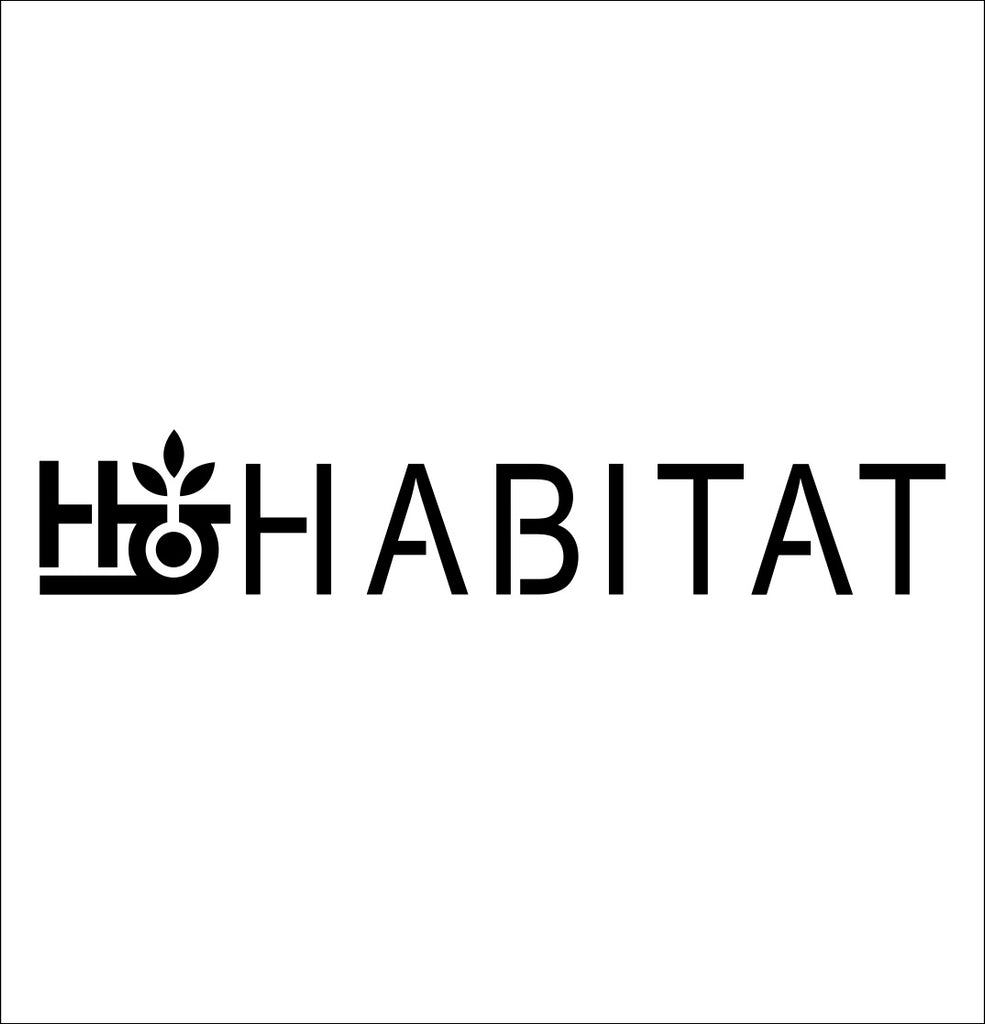 Habitat Skateboards decal, skateboarding decal, car decal sticker