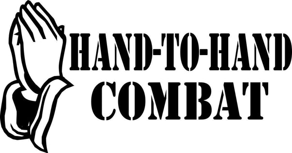 hand to hand combat religious decal - North 49 Decals
