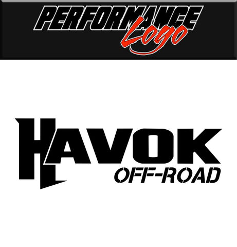Havok Off Road decal, performance car decal sticker