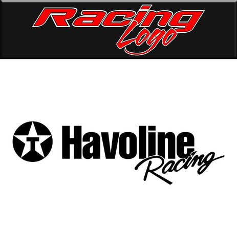 Havoline Racing decal, racing sticker