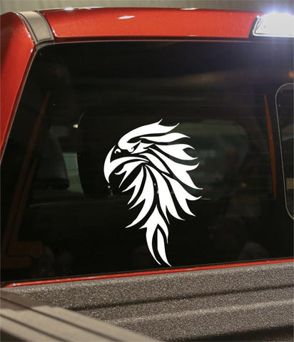 hawk flaming animal decal - North 49 Decals