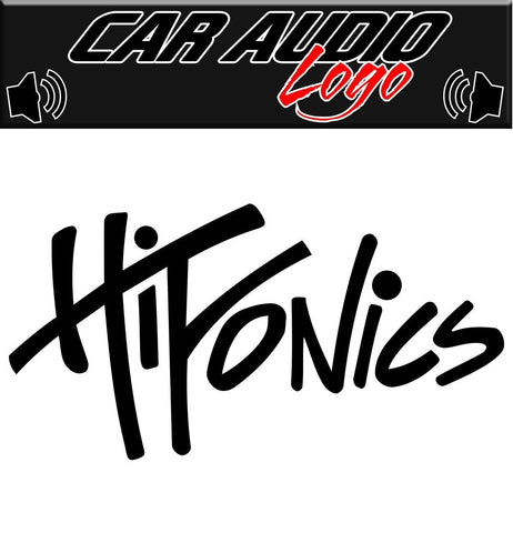 Hifonics decal, sticker, audio decal