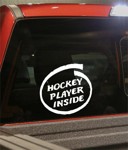 hockey player inside hockey decal - North 49 Decals