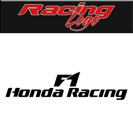 Honda F1 Racing decal, racing sticker