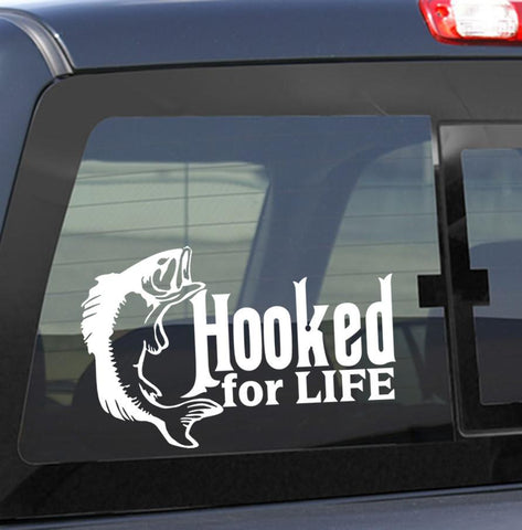 Hooked for life fishing decal - North 49 Decals