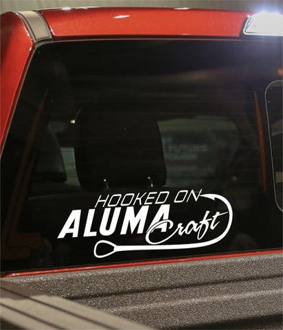 hooked on alumacraft fishing logo decal - North 49 Decals