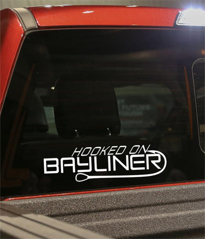 hooked on bayliner fishing logo decal - North 49 Decals