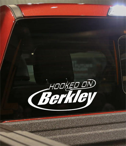 hooked on berkley fishing logo decal - North 49 Decals