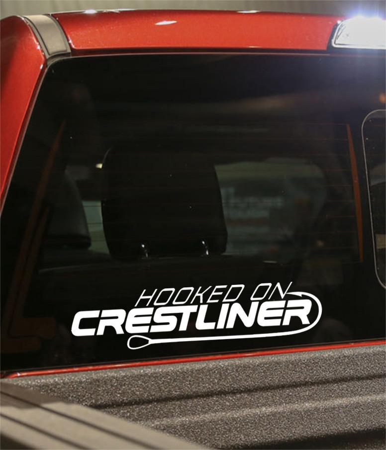 hooked on crestliner fishing logo decal - North 49 Decals