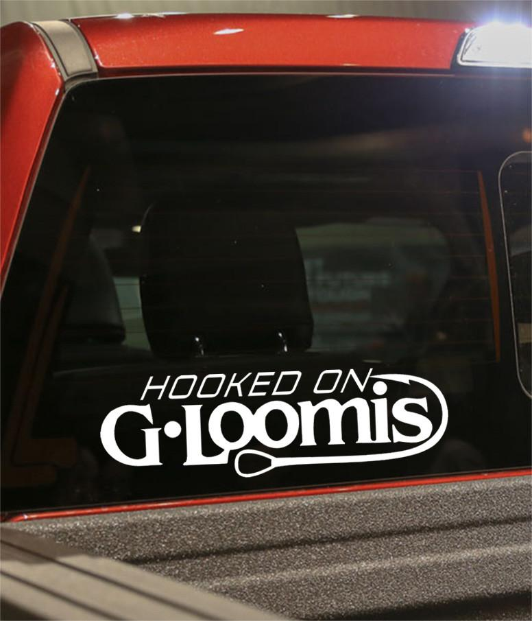 hooked g loomis on fishing logo decal - North 49 Decals