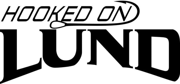 hooked on lund fishing logo decal - North 49 Decals