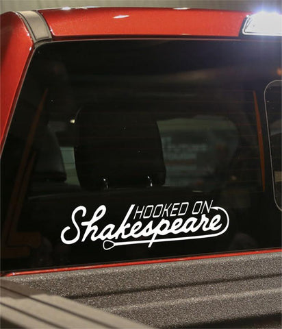 hooked on shakespeare fishing logo decal - North 49 Decals