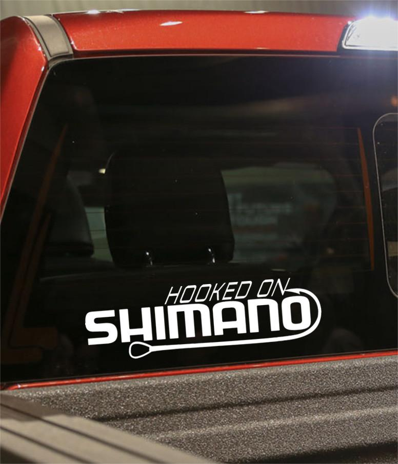hooked on shimano decal - North 49 Decals