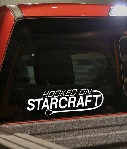 hooked on starcraft fishing logo decal - North 49 Decals