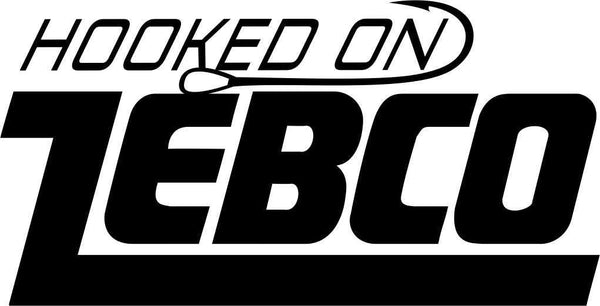 hooked on zebco fishing logo decal - North 49 Decals