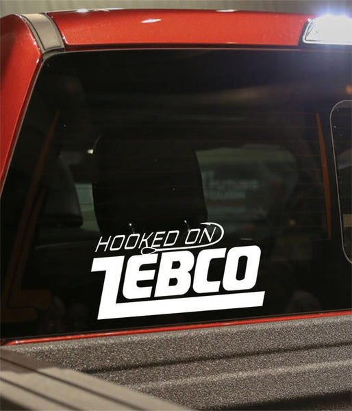 hooked on zebco decal - North 49 Decals
