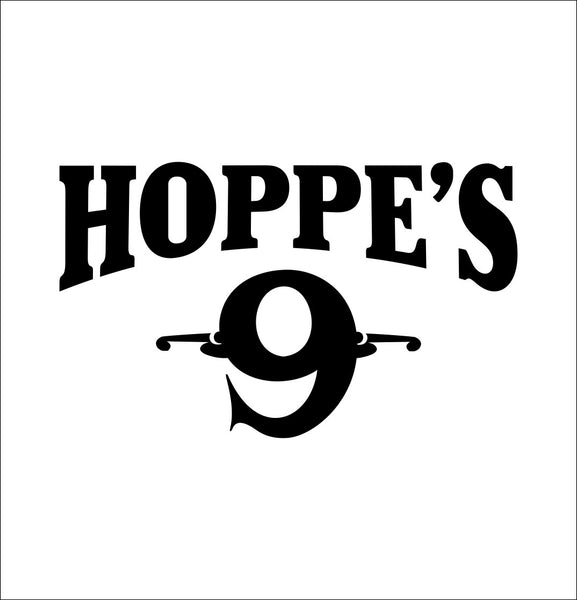 Hoppe's 9 decal, sticker, hunting fishing decal