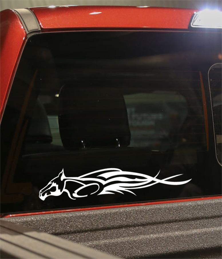 horse 3 flaming animal decal - North 49 Decals