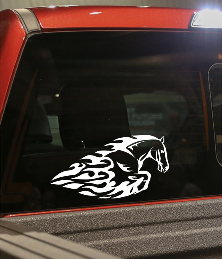 horse 7 flaming animal decal - North 49 Decals