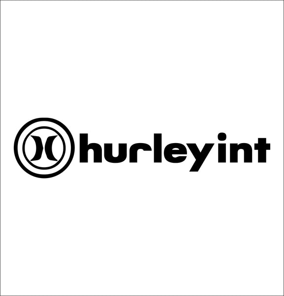 Hurley decal, skateboarding decal, car decal sticker