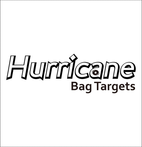 Hurricane Bag Targets decal, sticker, hunting fishing decal