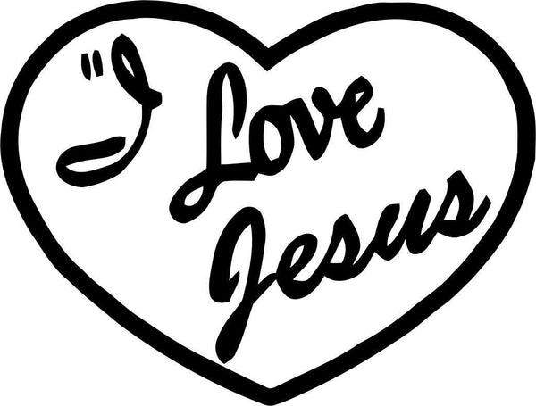 i love jesus religious decal - North 49 Decals