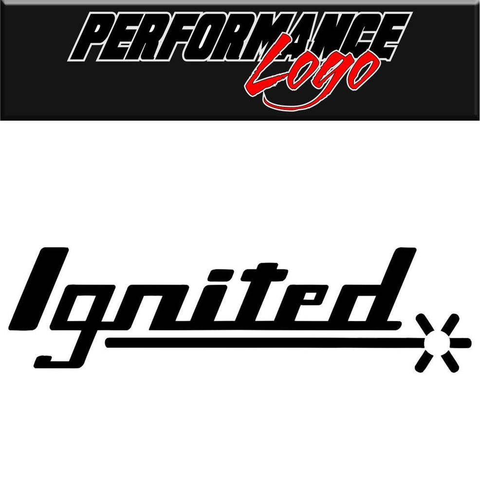 Ignited decal performance decal sticker