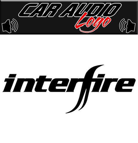 Interfire decal, sticker, audio decal