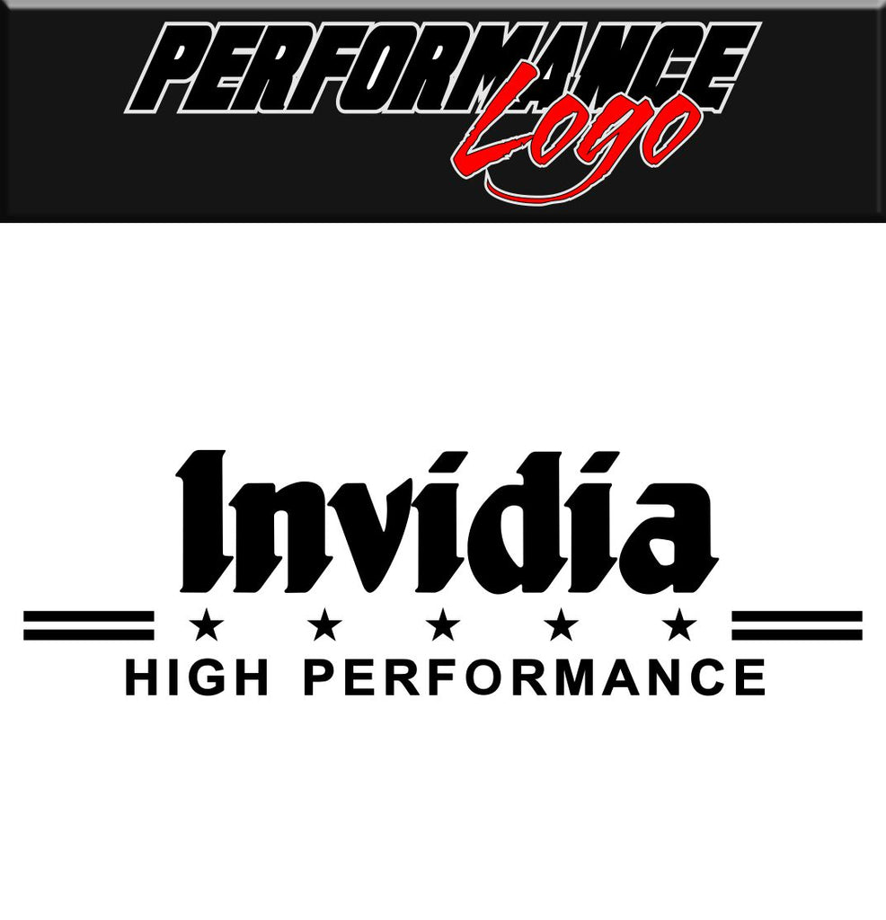 Invidia decal performance decal sticker