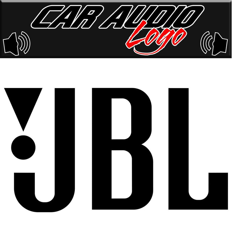 JBL decal, sticker, audio decal