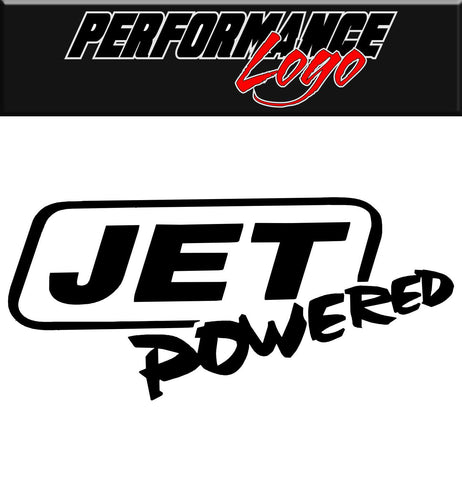 Jet Powered decal, performance decal, sticker