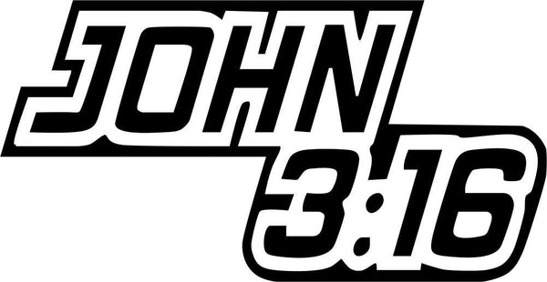 john 3:16 religious decal - North 49 Decals