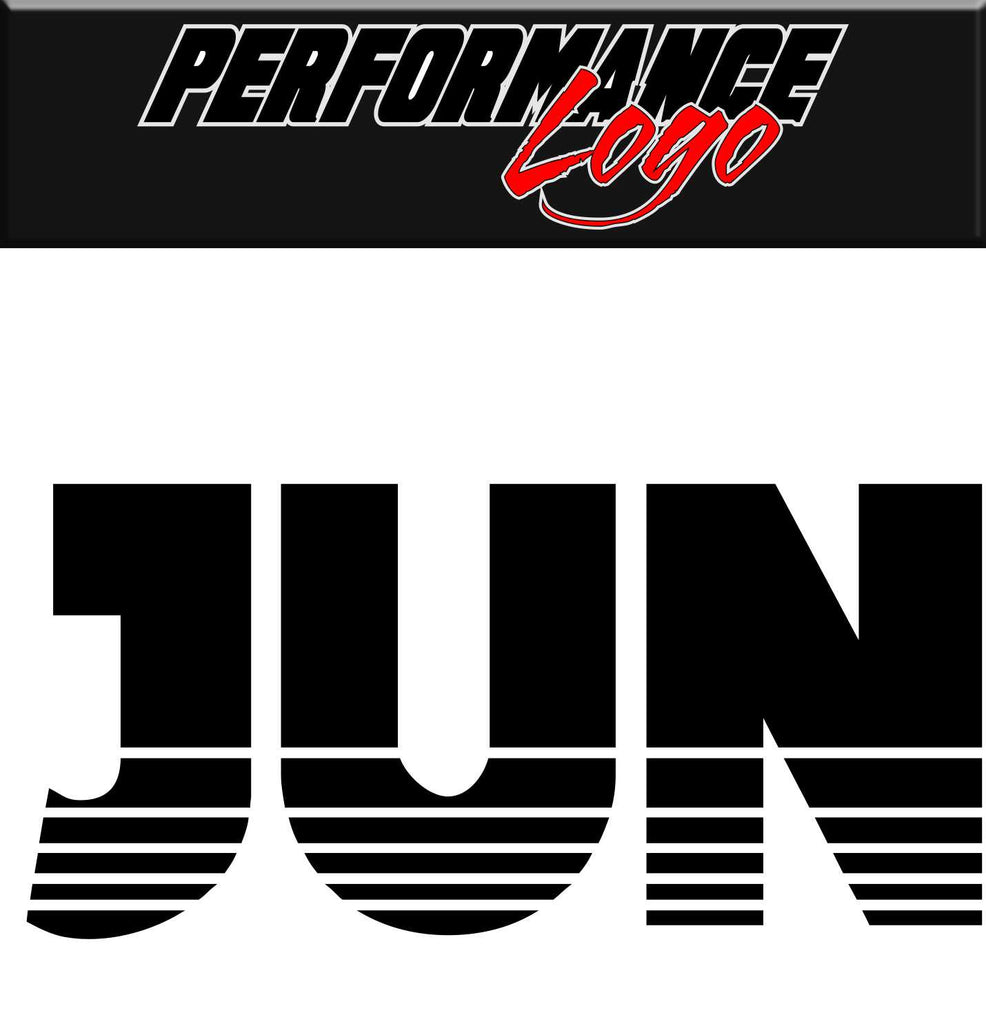 jun performance logo decal - North 49 Decals