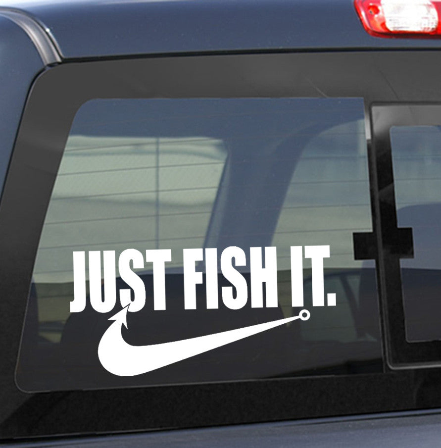 fishing decals, car decal, window sticker