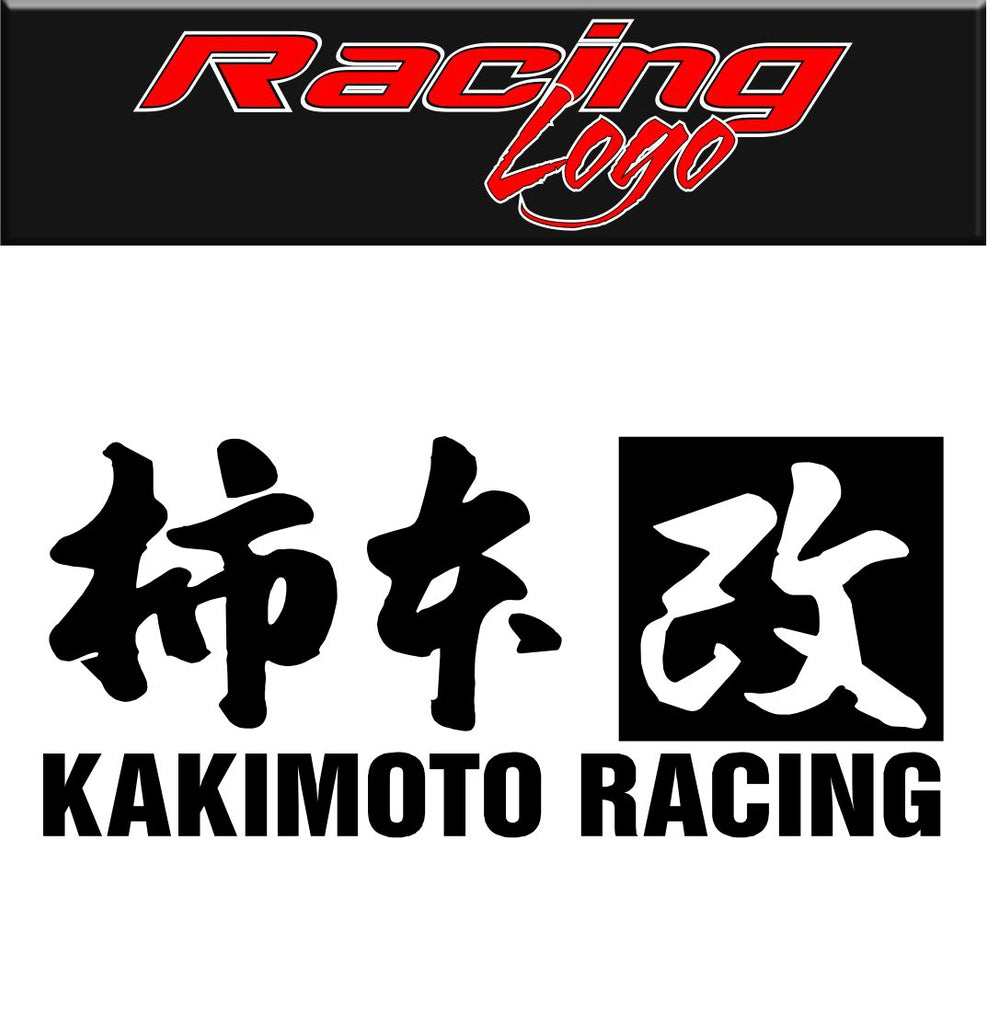 Kakimoto Racing decal, racing decal, sticker