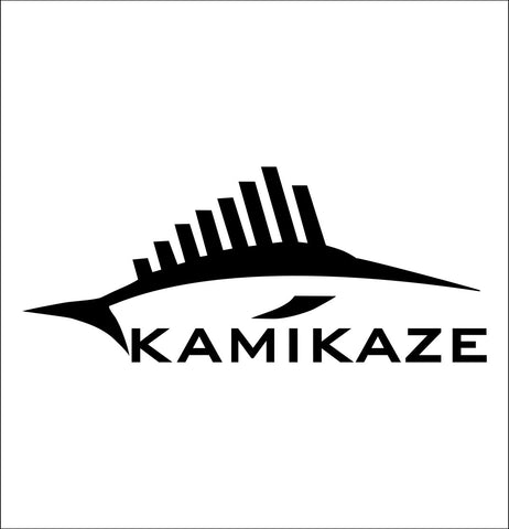 Kamikaze decal, sticker, hunting fishing decal