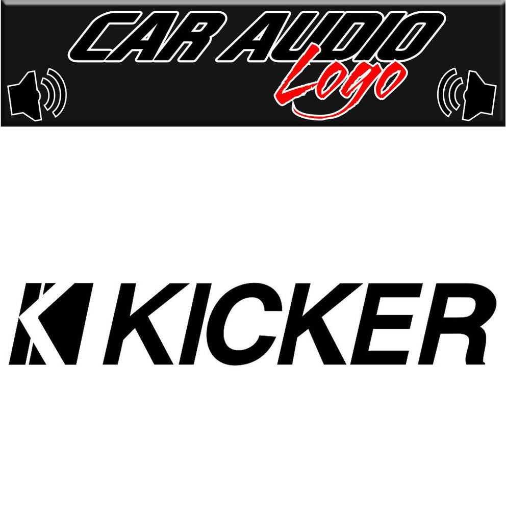 Kicker decal, sticker, audio decal
