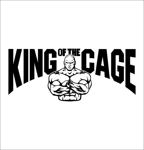 King of The Cage decal, mma boxing decal, car decal sticker