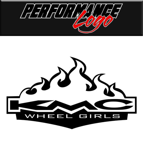 KMC Wheel Girls decal, performance decal, sticker