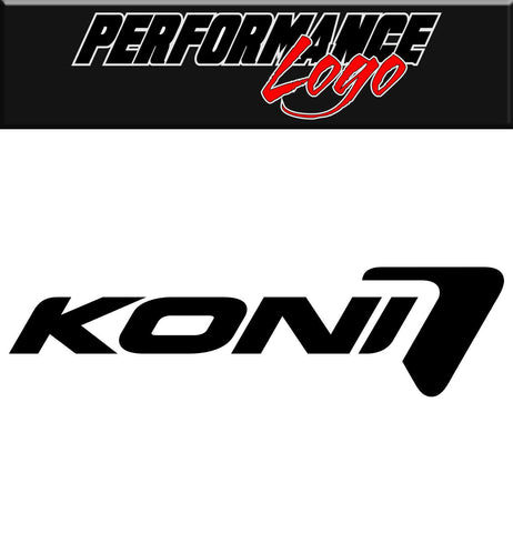Koni decal, performance decal, sticker