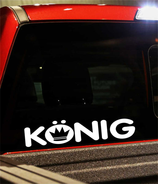 konig performance logo decal - North 49 Decals