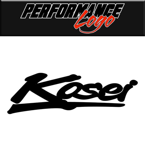 Kosei Wheels decal, performance car decal sticker