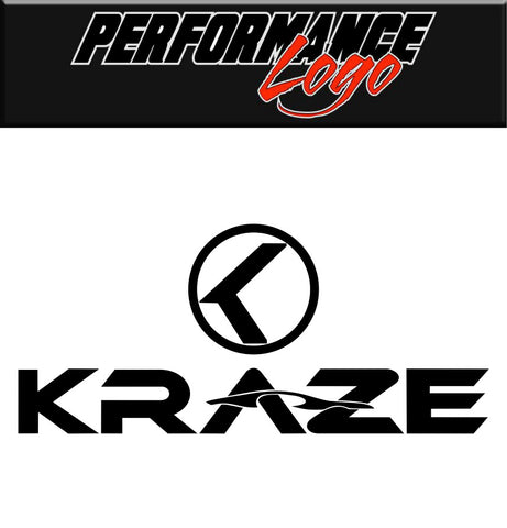 Kraze Wheels decal, performance car decal sticker