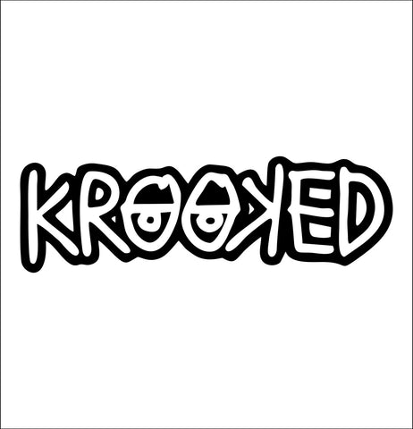 Krooked Skateboards decal, skateboarding decal, car decal sticker