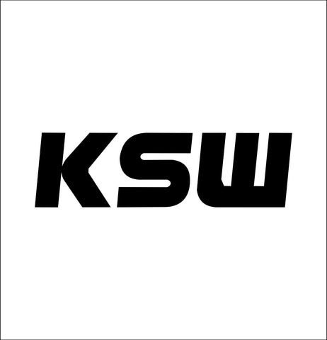 KSW decal, mma boxing decal, car decal sticker