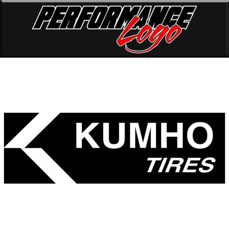 Kumho Tires decal, performance decal, sticker