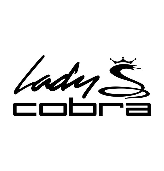 Lady Cobra decal, golf decal, car decal sticker